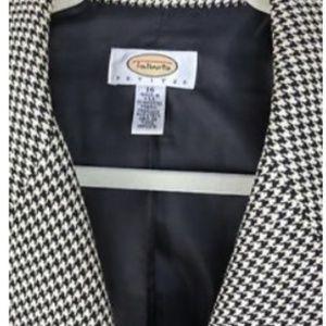 Talbots Womens 16P BW Houndstooth Wool Blazer $209